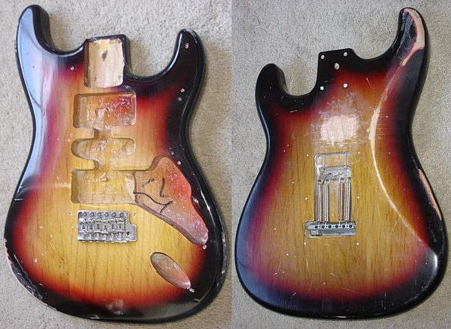 stratocaster humbuger body