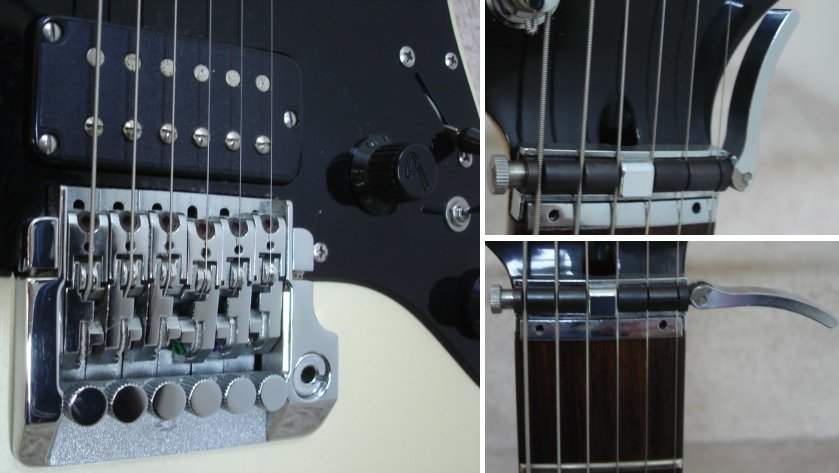 anyone got an hm strat if you want a crazy 80s fender go all the way contemporary strat a front route fulcrum trem a side grip locking nut that clamps a toilet flush