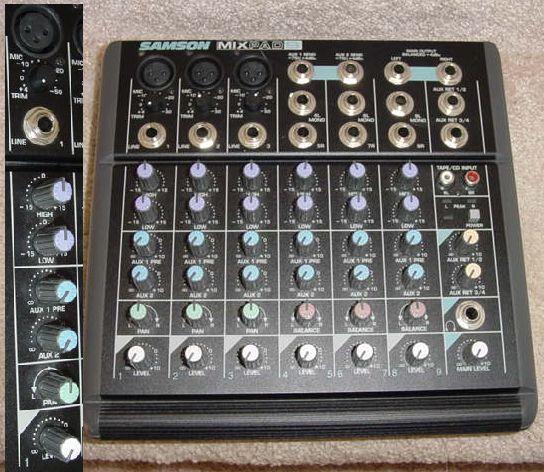 Samson MixPad9 Mixer.